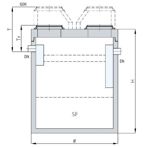 The grease separator in round design.