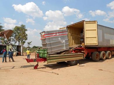 Entwicklungsprojekt Südsudan-Abladen des freistehenden Abscheiders